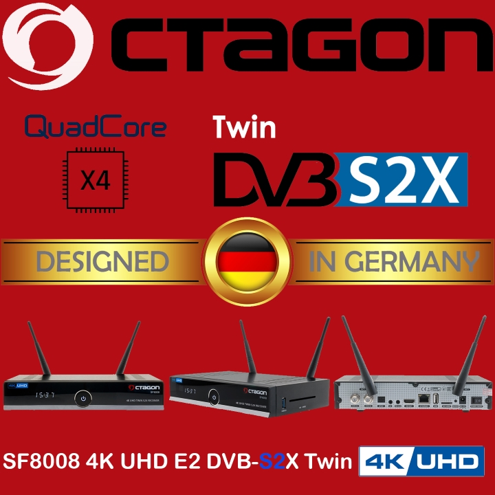 Octagon UHD 4K SF8008 TWIN DVB-S2X only £109! IN STOCK NOW