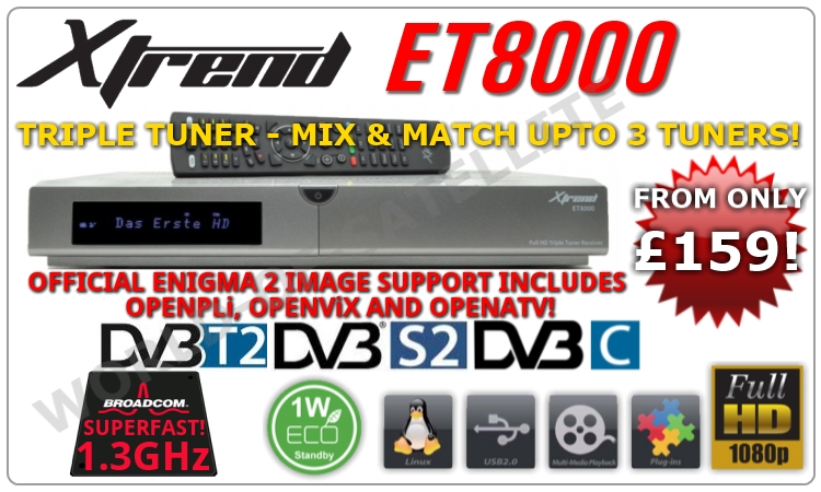 SUMMER MADNESS!! Xtrend ET8000 from only £159!! - SatsUK
